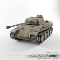 3D sd v panther german tank