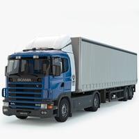3D truck trailer
