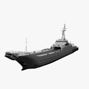 minelayer-landing ship 3D model