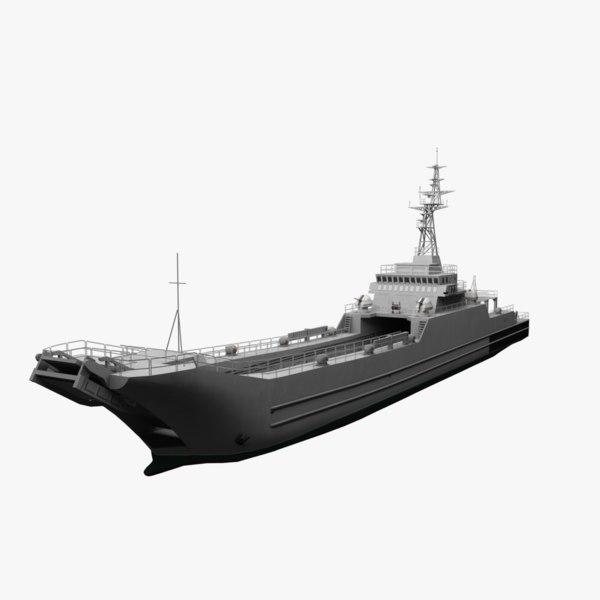 minelayer-landing ship 3D model