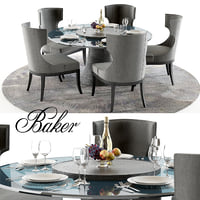 baker katoucha dining table 3D