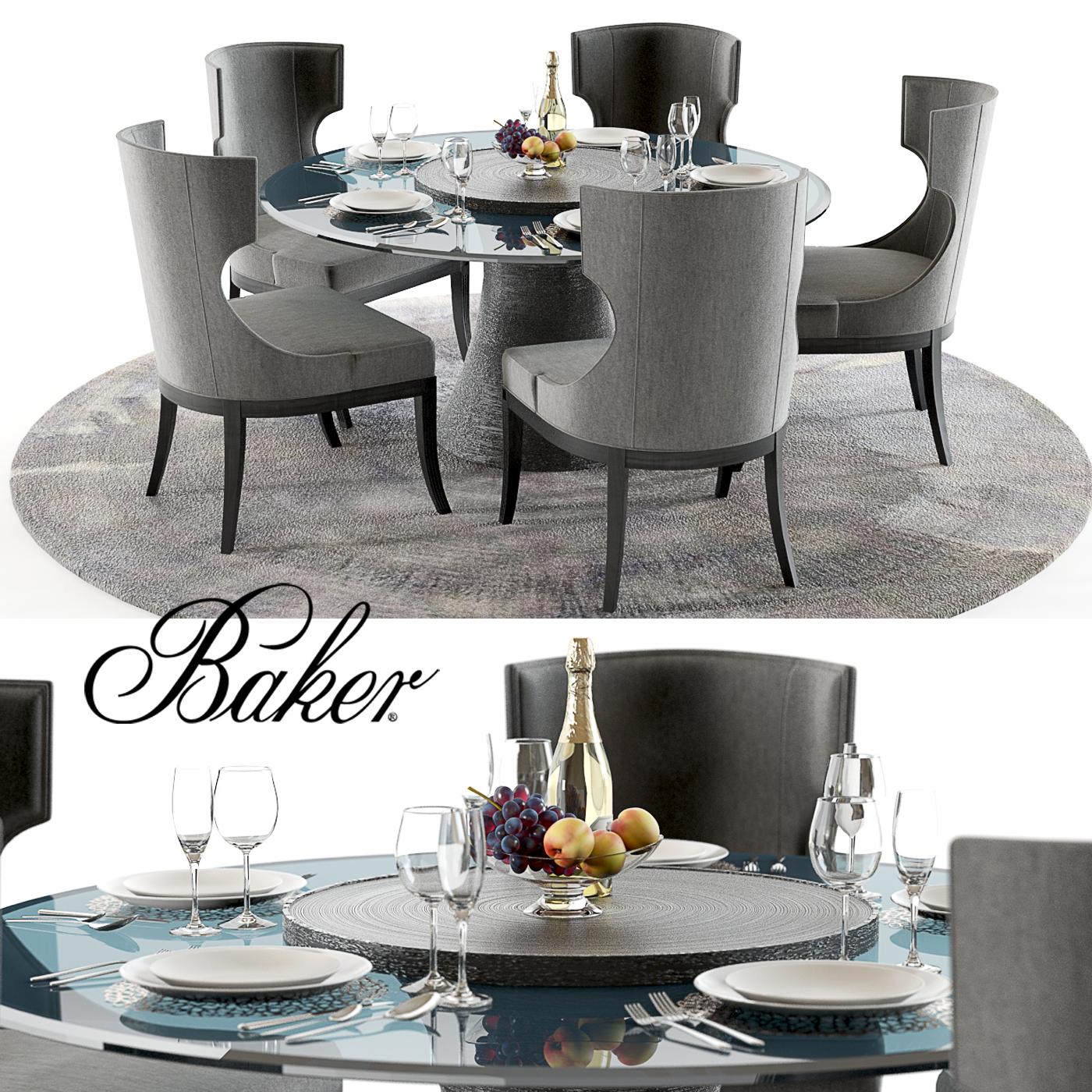 Baker Katoucha Table Marat Chairs