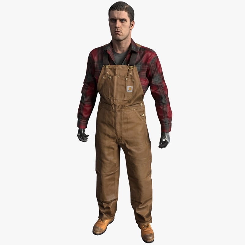 vr safety dungarees model