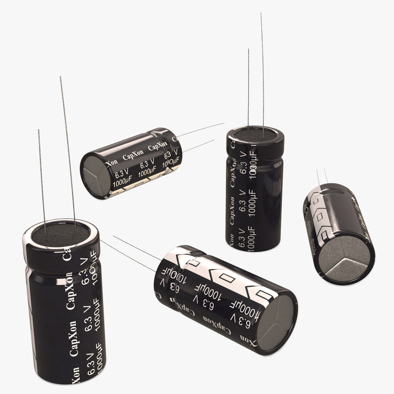 electrolytic capacitor 3D
