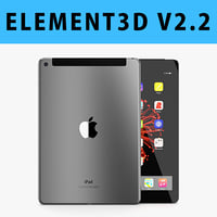 E3D - Apple iPad 9.7 Inch 2017 Cellular Space Grey 3D model