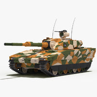 CV90 120-T Light Tank(Green-Desert Camo)