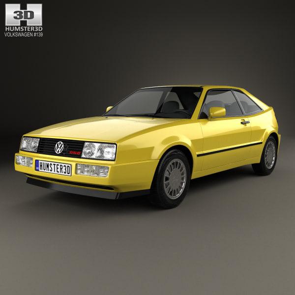 volkswagen corrado g60 3D model