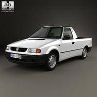 volkswagen caddy 1995 3D