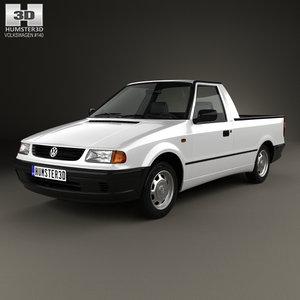 volkswagen caddy 1995 3D