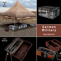 3D german military equipment