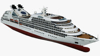 cruise seabourn sojourn ship 3D model