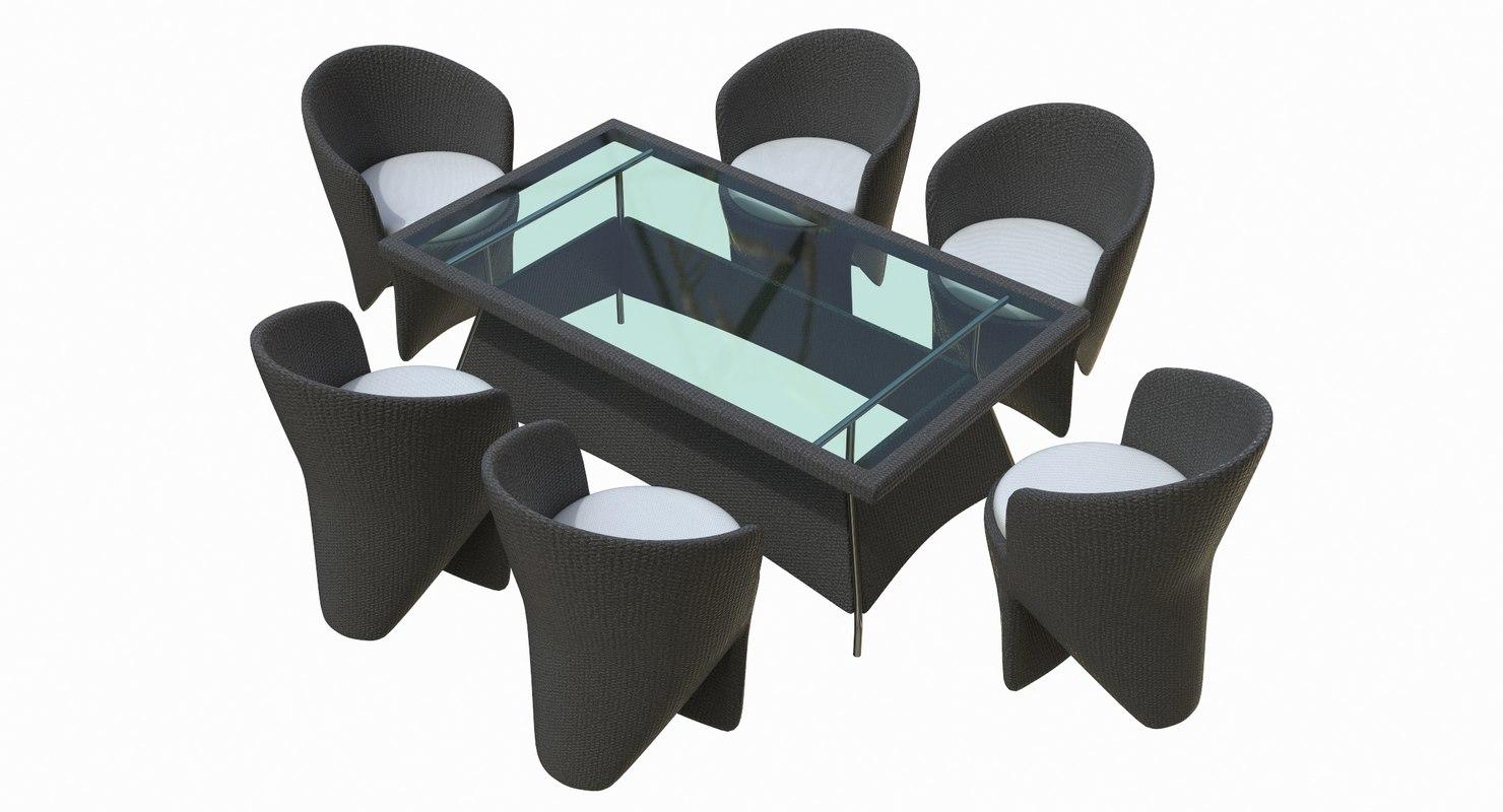 3D furniture terrace model