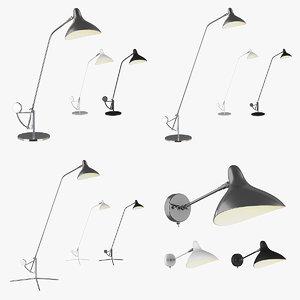 3D model sconce manti lightstar lamp
