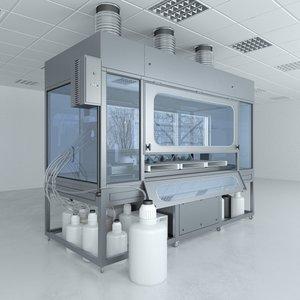 3D model lab furniture typical set