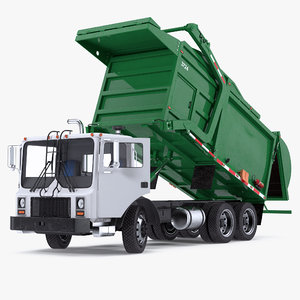 trash truck generic rigged 3D model