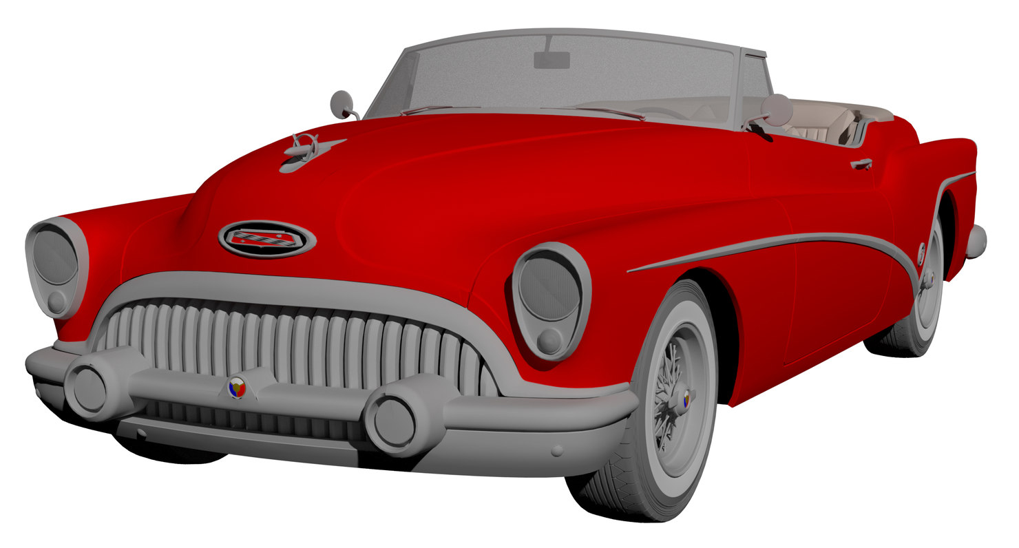 1953 buick skylark convertable 3D model