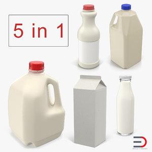 milk bottles 2 model