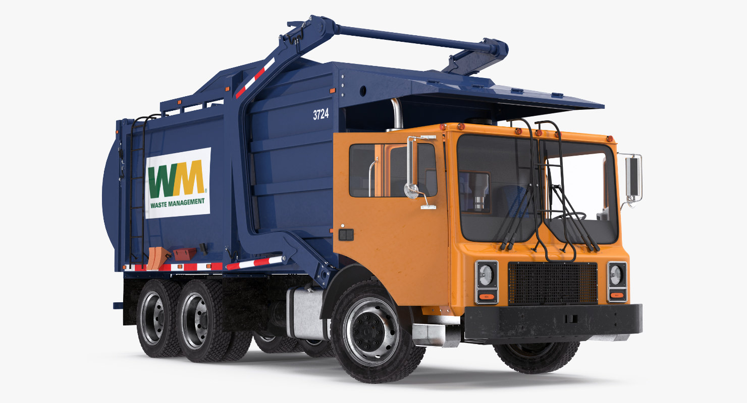 3D mack garbage truck