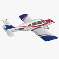 light aircraft piper pa-28-161 3D