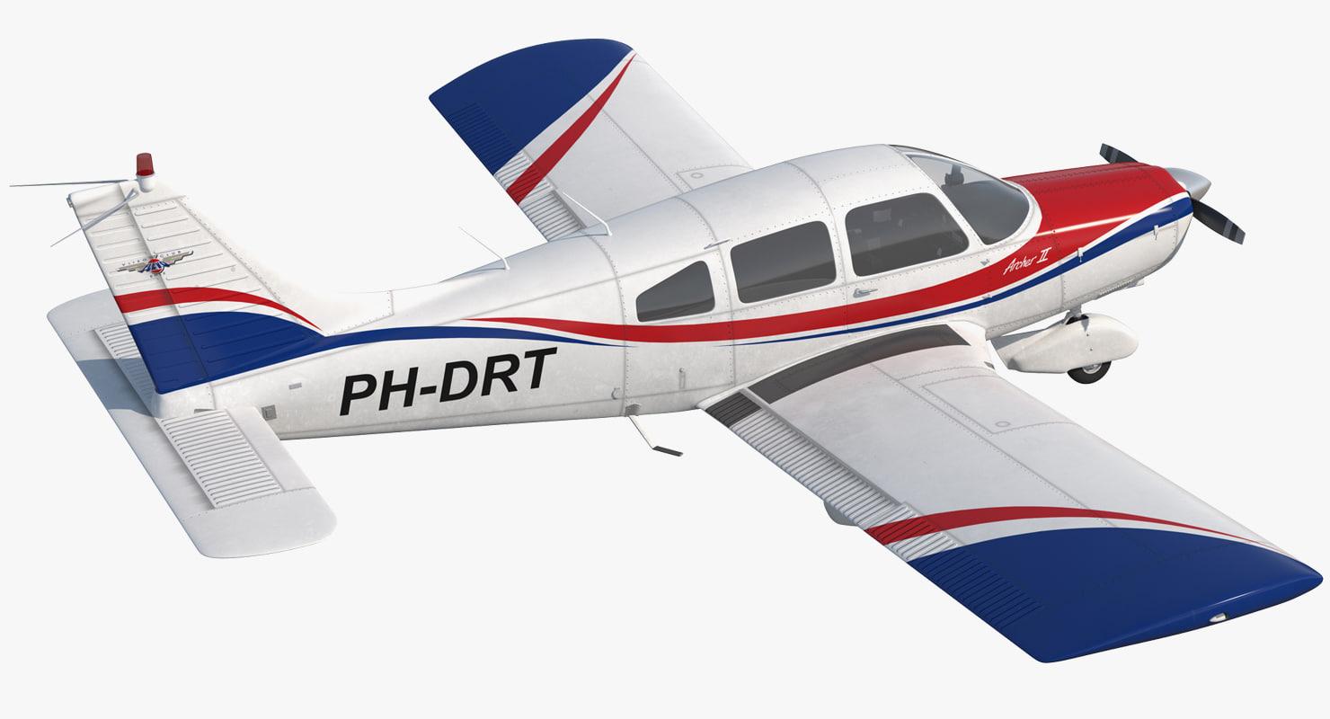 light aircraft piper pa-28-161 3D