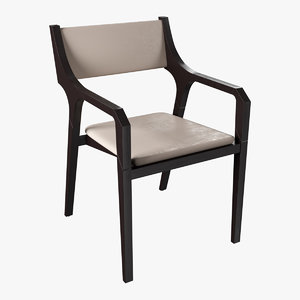okha clyde carver dining chair 3D model