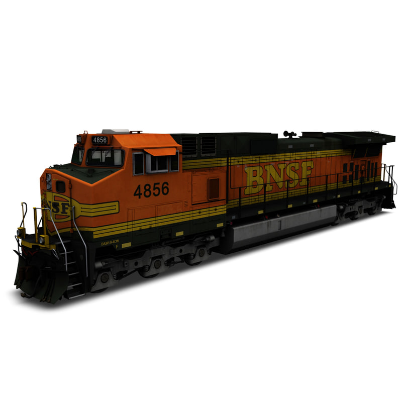 3D locomotive bnsf h2 model