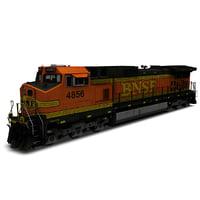 3D locomotive bnsf h2 model