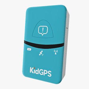 gps tracker kids kidgps 3D
