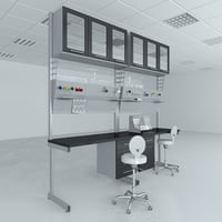 3D lab furniture typical set