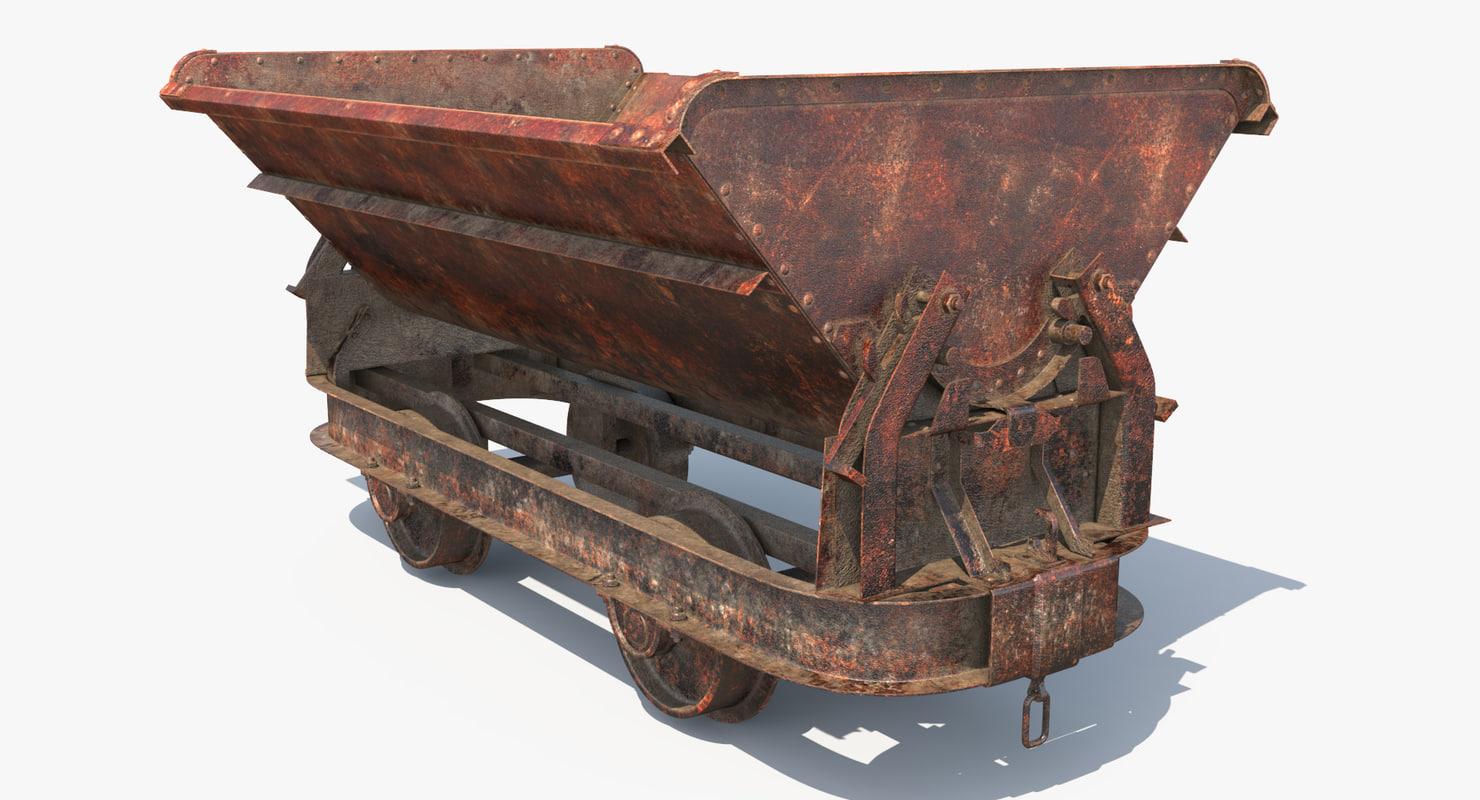3D model mining cart