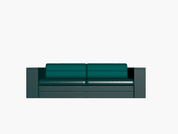 stylish couch 3D model