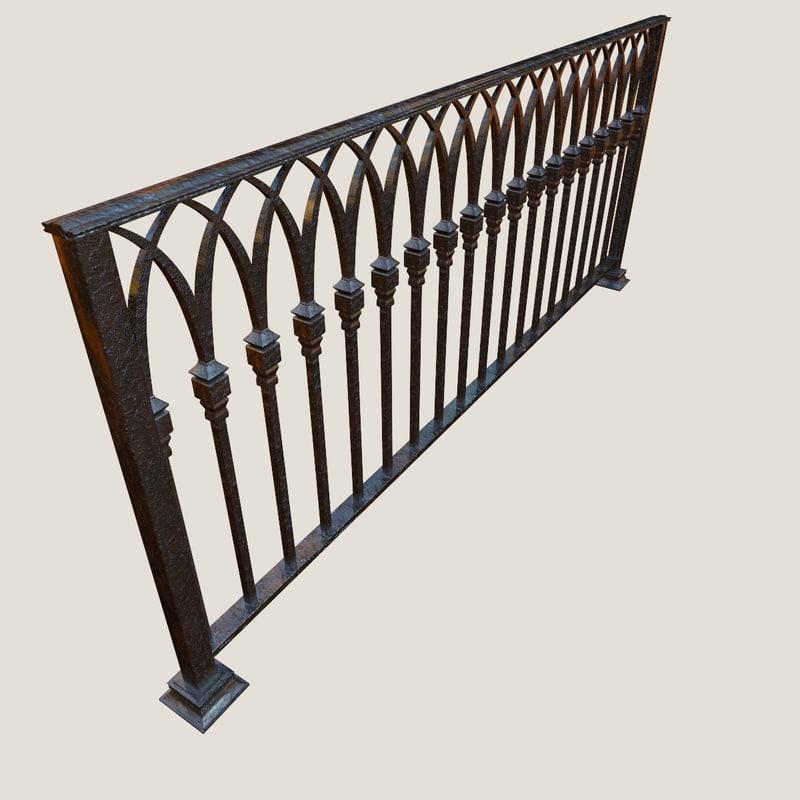 3D model railing old