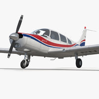Aircraft Piper PA-28-161 Warrior II Rigged 3D Model