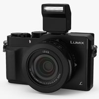 Digital Camera Panasonic LX100 Black 3D Model