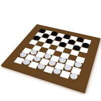 checker modeled 3D