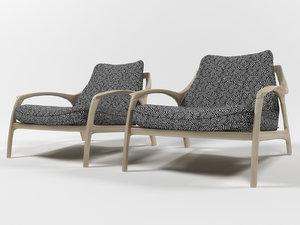 3D model sequilla armchair indahouze
