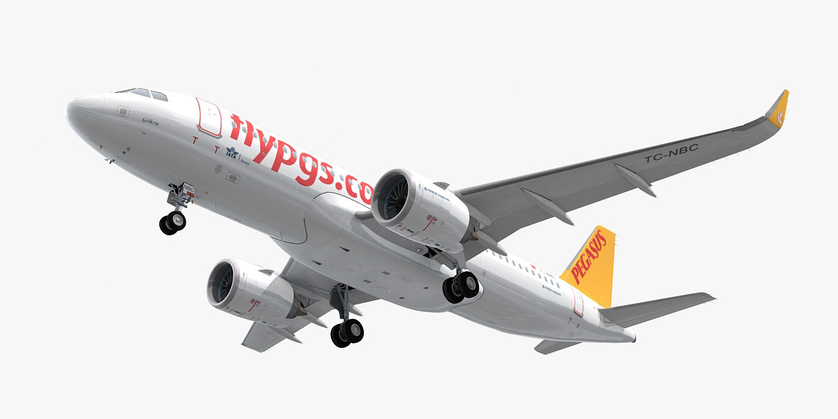 airbus a320neo pegasus airlines 3D