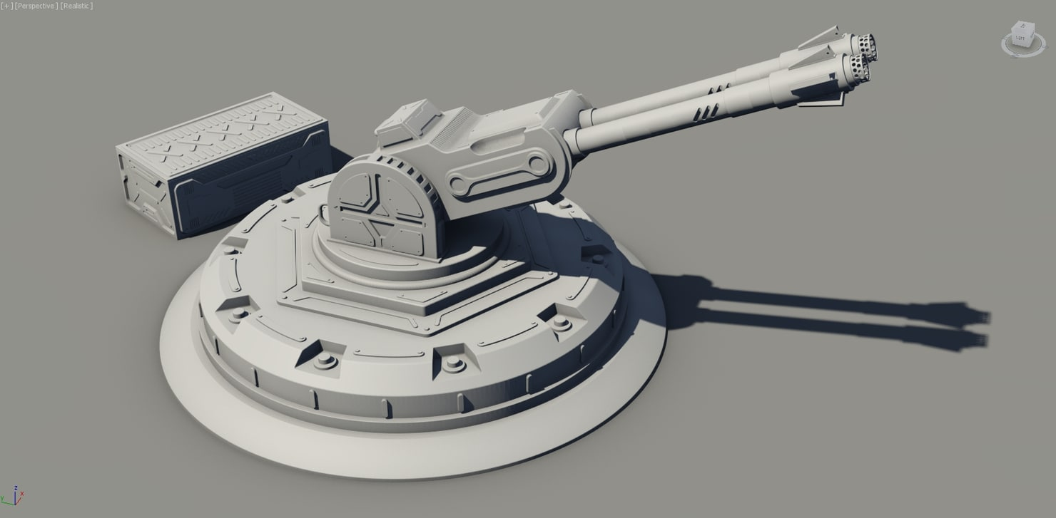 cannon sci-fi container 3D