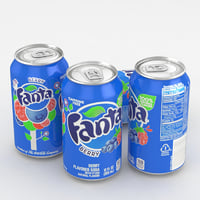 beverage fanta berry model