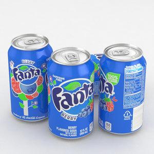 beverage fanta berry model