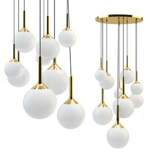 3D chandelier globo e14 9x40w