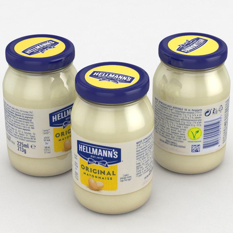 mayonnaise hellmann s 3D model