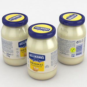 mayonnaise hellmann s 3D model