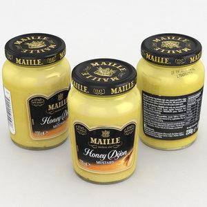 3D mustard maille food model