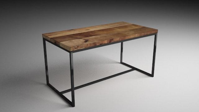 table industrial 3D model