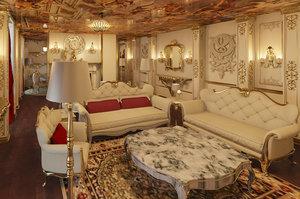 interior classic living 3D model