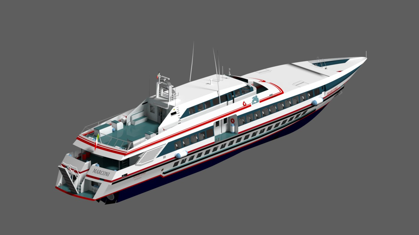 3D ferries interior model