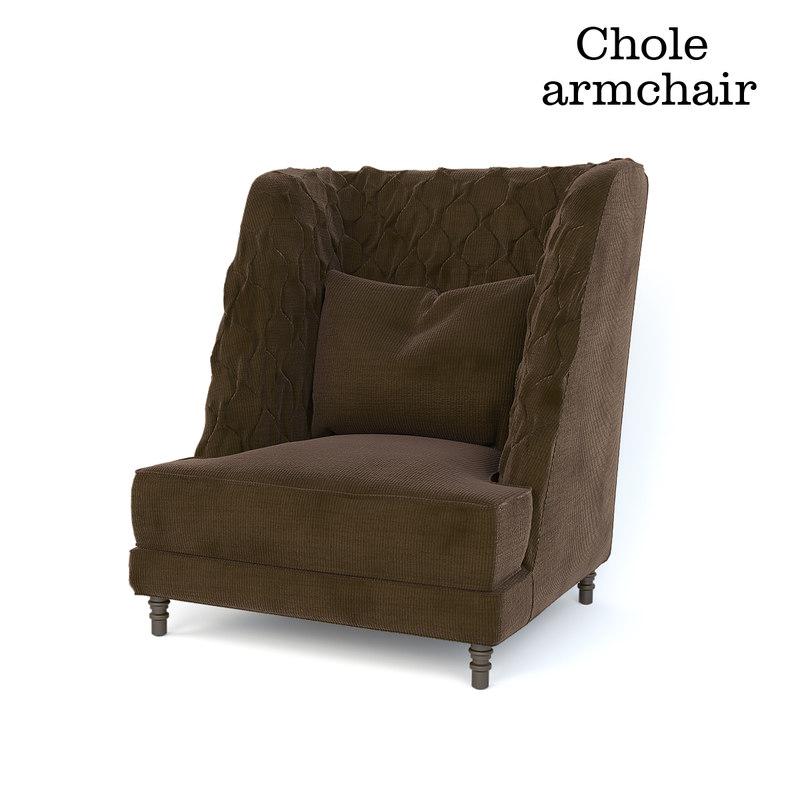 3D chole louhge chair designer