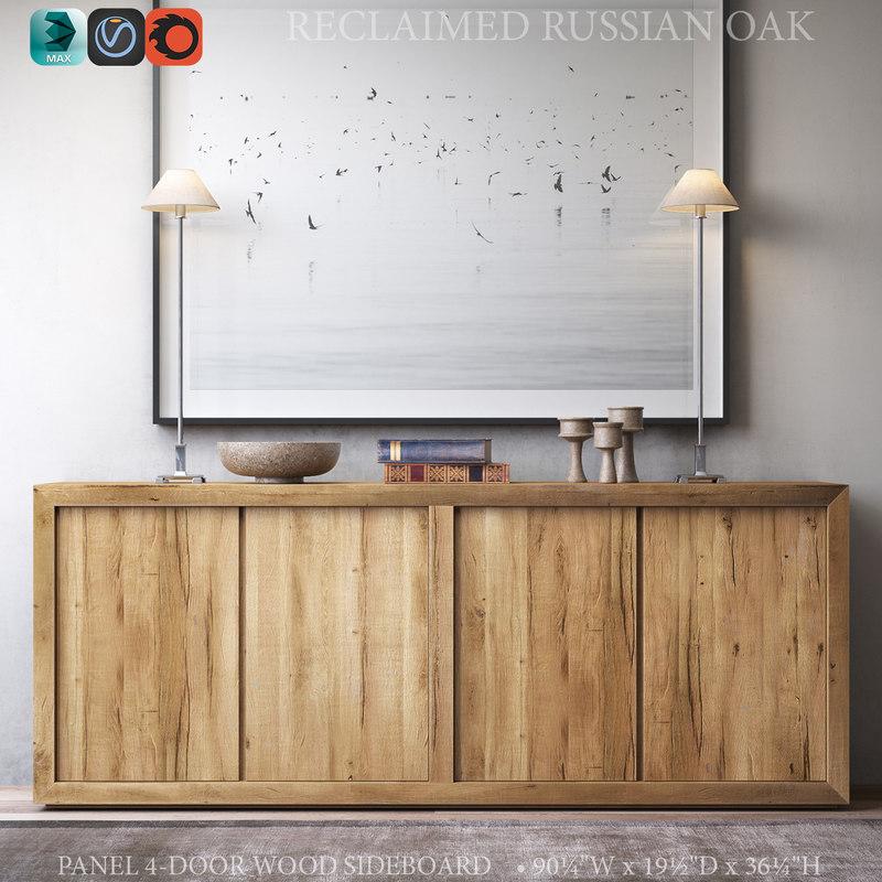 reclaimed russian oak panel model