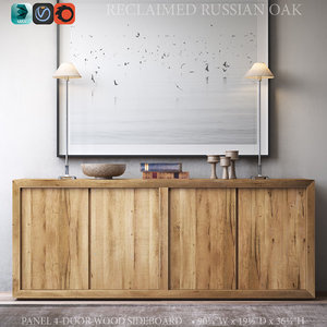 reclaimed russian oak panel model